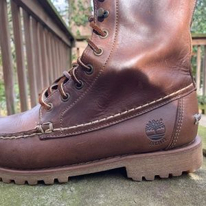 Timberland 8 Inch Moc Toe Leather Boot (Rare)